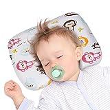 YISSVIC Almohada Bebé Anti Cabeza Plana Almohada Cabeza Niños para Dormir Cojin Anti Plagiocefalia...