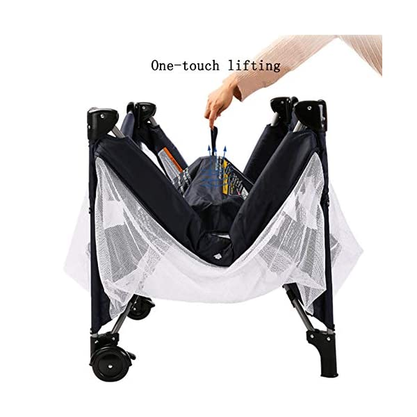 Mr.LQ Multi-Functional Crib, Foldable Crib, Safe And Environmentally Friendly, With Roller,Gray  ★[Crib material]: The crib does not contain paint, does not contain formaldehyde, has no harmful substances to the baby, and gives the baby a comfortable sleeping environment; the overall quality of the high-quality TD fabric is soft and comfortable;the corner is made of environmentally-friendly plastic material. ★It is non-toxic and will not harm your baby. The bracket is made of high-quality alloy material, which is durable and light. ★[Folding Crib] The folding crib is designed to be carried around, carry it around, carry it with you, and fold or unfold it in a matter of time. 3