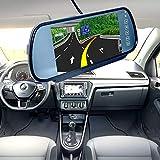 Leaftree 7 Pulgadas Monitor de Espejo retrovisor de Respaldo de Coche LCD y Sistema de cámara de cámara inversa inalámbrico