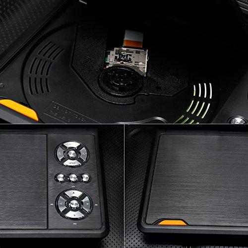 """APEMAN 7,5"""" Tragbarer DVD-Player mit 4 Stunden Akku Drehbarem Display Unterstützt SD-Karte USB AV OUT/IN Spiele-Joystick - 7"""