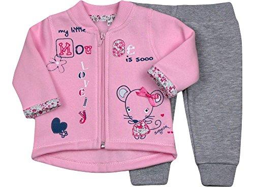 Be Mammy Conjunto Jersey y Pantalones Ropa Bebé Niña Mouse1 7306 (68,...