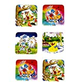 Perpetual Bliss™ (PACK OF 6) SQUARE SHAPE PRINTED LUNCH BOX FOR KIDS, RETURN GIFT FOR KIDS BIRTHDAY PARTY (FOR MORE GIFTS SEARCH FOR Perpetual Bliss™)