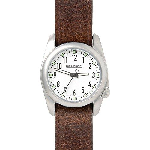 Bertucci 1107540mm in acciaio INOX in pelle marrone Horween Ventara orologio da uomo