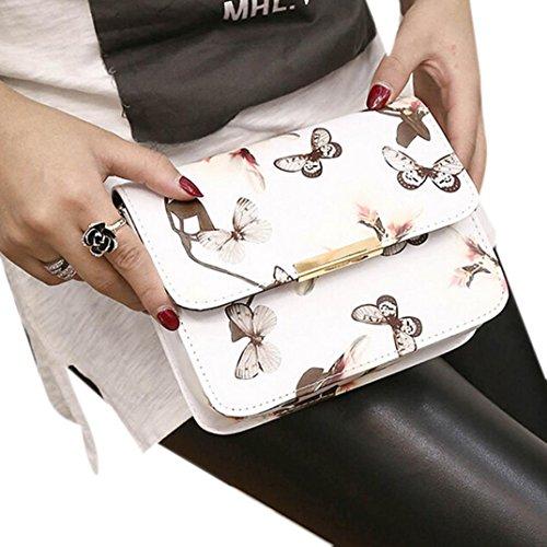 Fami borsa delle donne Stampa floreale Borsa a tracolla 19cm*15cm (WT)