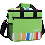 MIER 15L Large Insulated Lunch Bag Picnic Cool Bag for Men and Women, Green