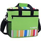 MIER 15L grande con aislamiento del bolso del almuerzo de picnic Cool Bag para hombres y mujeres, Verde