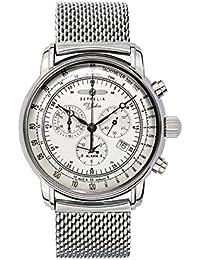 Zeppelin Herren-Armbanduhr XL Chronograph Quarz Edelstahl 7680M1