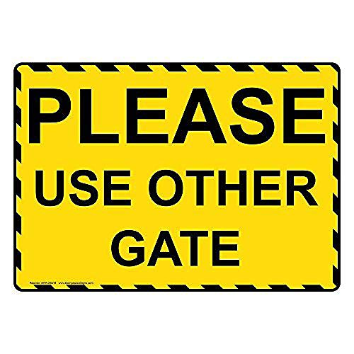 WallAdorn Please Use Other Gate Warning In with English Eisen Blechschild Vintage Wall Decor für Cafe Bar Pub Home