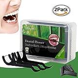 Zahnseide, Zahnseide Stick, Dental Floss, Zahnseidensticks, Zahn Draht, Zahnstocher Stick Oralpflege, 100 Stück Zahnseide-Stick Bamboo Charcoal Interdental Flosser Zahnreiniger Sticks
