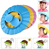 Simxen New Adjustable Safe Soft Bathing Baby Shower Cap Wash Hair for Children Baby Eye Ear Protector Adjustable Leaves Shape Bathing Shower/Shamoo Cap Hat