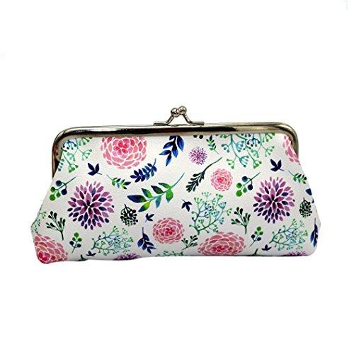 Portafoglio Donna, Tpulling le donne lady retrò vintage cuoio portafoglio piccolo hasp borsa clutch bag (B) A