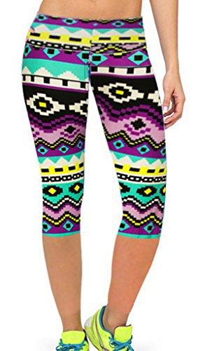 Smile YKK Pantalon Taille Haute Femme Legging Sculptant Physique Yoga Jogging Casual Elastique #O