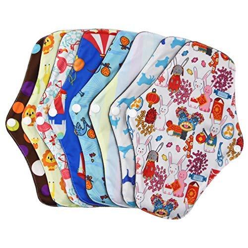 Waschbar Wiederverwendbare Hygiene-Auflage 5 PC Menstrual Pads + 1 PC-Tasche - Natürliche Sanitary Pads