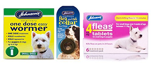 Pet Connection Flea, Tick & Worming Kit (Size 1: Small Dog (0-6kg)) 1