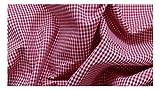 Fabrics-City ROT VICHYKARO BAUMWOLLSTOFF 2MM BAUMWOLLKAROS