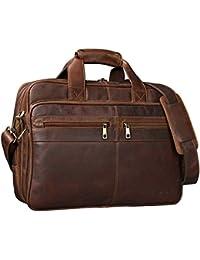7130dcdf9255e STILORD  Alexander  Lehrertasche Herren Leder braun Aktentasche  Laptoptasche Bürotasche Businesstasche Vintage groß XXL Umhängetasche