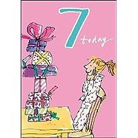 Quentin Blake Breakfast Presents 7th Birthday Girl Card
