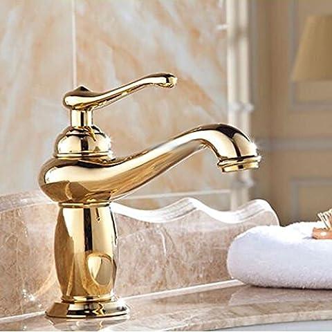 Furesnts Casa Moderna Cocina Y Lavabo Toques Retro Europeo Todo El Cobre Caliente Y Frío Cuenca Kitchen Sink Faucet Taps,(Estándar G 1/2 Puertos Manguera Universal)