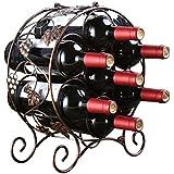 LYL Creative Metal Gerahmte Weinregale Dekorative Free Standing 7 Flaschen,  2 Größe , B