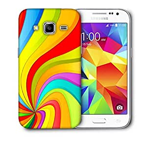 Snoogg Abstract Rainbow Design Printed Protective Phone Back Case Cover For Samsung Galaxy Core Plus G3500