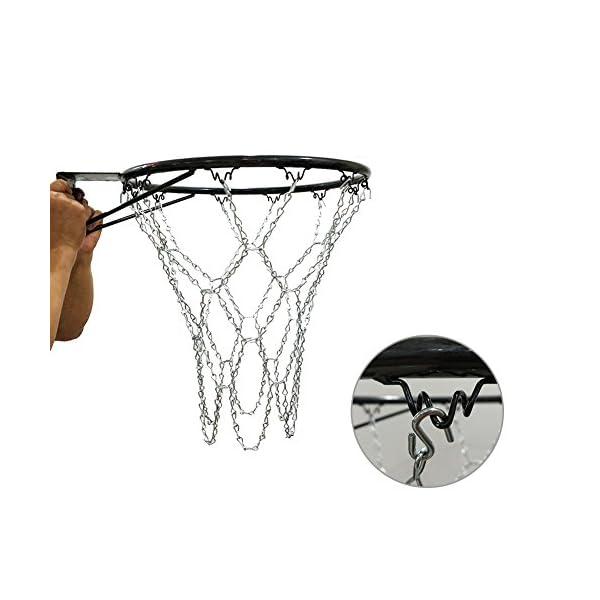Longueur 55CM Standard 12 Crochets Paniers De Basketball Filet Robuste De Basketball Remplacement De La Cha/îne Avec Des Crochets Filet De Basket En Chaine Cha/îne De Fer Galvanis/ée Par Fer