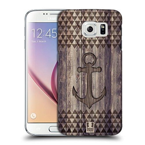 Case Camera Galaxy (Head Case Designs Anker Mix Von Holz Drucken Ruckseite Hülle für Samsung Galaxy S6)
