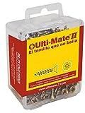 Ulti-Mate II S50040L Caja Grande con Tornillos de Alto Rendimiento para Madera Acabado BICROMATADO de 5,0 x 40 mm, Set de 40 Piezas