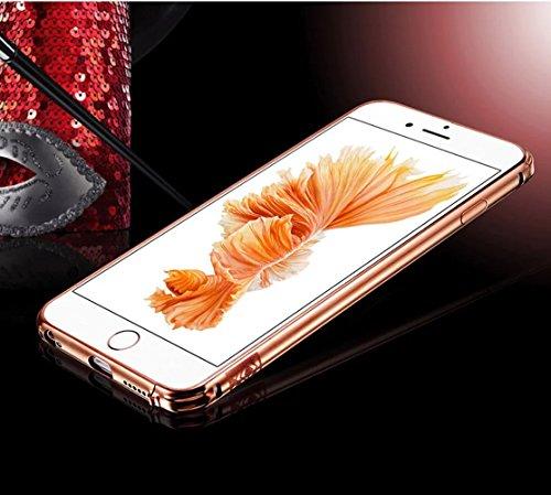 Vandot Haute Qualité Matériels Fashion Art Bling Shinning Cristal Plastique Couvrir Couverture pour Apple Iphone 5 5S Coque Case Housse Etui Cover Coquille + Stylet + Diamant Strass Prise Bouchon Anti miroir design-Rose Rouge