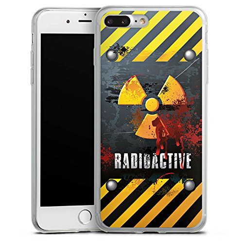 Apple iPhone X Slim Case Silikon Hülle Schutzhülle Radioactive Blut Atom Silikon Slim Case transparent