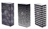 * RAUCHERSET * 3 x Zigarettenetui schwarz-weiss für 100 mm Zigaretten + 2 Glutkiller - Zigarettenboxen ohne Schockbilder