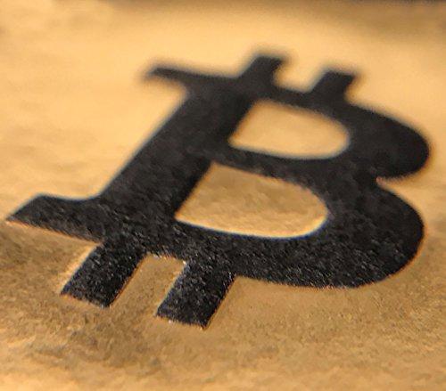 Bitcoin Cocktail Servietten | aus schwarzem Premium Airlaid | 25 St. | 25 x 25 cm | hochwertige BITCOIN Goldprägung | - 5