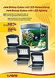 sera 31099 marin Biotop LED Cube 130 ein 130 l Meerwasser-Komplettaquarium mit LED Beleuchtung und Filtration - 3