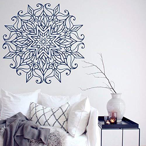 Adesivo murale fiore mandala creativo marocchino indiano bohemianyoga decorazioni per la casa murales arte soggiorno autoadesivo della parete di arte del vinile 57 * 57 cm