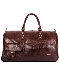 The Clownfish Paramount 44 liters Crocodile Faux Leather Travel Duffle  Trolley e857f83a101d8