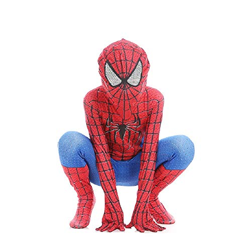 Diudiul Kids Superheld Spiderman Kostüme für Kinder Action Dress Ups und Zubehör Party Cosplay Kostüm (Marvel Spiderman Kostüm)
