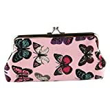 Best Broadfashion Womens Wallets - Butterfly Coin Purse Canvas Clasp Coin Pouch Clutch Review