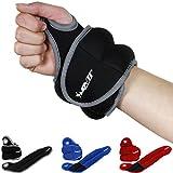 MOVIT® 2er Set Neopren Gewichtsmanschetten mit Daumenschlaufen, 4 Varianten 2x 0,5kg - 2x 2,0kg, 3 Farben Laufgewichte für Handgelenke