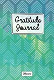 Gratitude Journal: Personalized diaries for 2017 daily gratitude & mindfulness reflection,Navy & Mint Chevron Tough Matte Cover Design (Gratitude diaries you can write in)