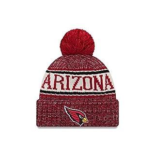 New Era NFL Sideline Bobble Knit 2018/2019 Season Beanie (Arizona Cardinals)