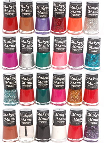 Makeup Mania Exclusive Nail Polish Set of 24 Pcs (Multicolor Set # 76, 81)