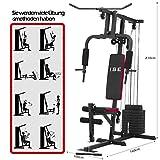 ISE Station de Musculation Banc de Musculation Multifonction avec Poids SY-4002