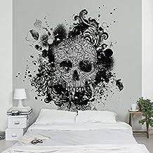 Apalis Vliestapete Skull Fototapete Quadrat Vlies Tapete Wandtapete Wandbild Foto D Fototapete Fur Schlafzimmer Wohnzimmer