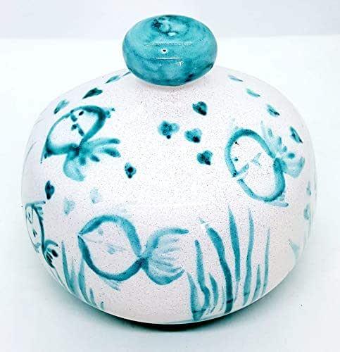 Nascondispugna Linea Pesci per Cucina e Bagno Le Ceramiche del Castello Made in Italy