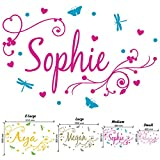 Girl's Swirly Personalised Name - Wall Decal Art Sticker playroom bedroom nursery (Large) by Wondrous Wall Art...