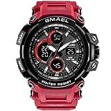 Blisfille Armbanduhren Männer Wasserdicht Herrenuhr Multifunktional Rot Outdoor Sportuhr Armbanduhr Automatikuhr