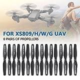 Jiayuane Ensemble d'hélice de drone, 8 paires d'hélice CW / CCW pour VISUO XS809W XS809HW FPV Quadcopter