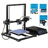 DIY Imprimante 3D High Precision Auto Leveling Desktop Imprimantes 3D Structure complète en aluminium Grande taille d'impression KIT DIY avec MK8 Extruder Mise à jour Écran LCD Auto-assemblage DIY 3D Machine