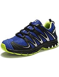 Zapatillas Montaña Hombre Trekking Senderismo Zapatos Running Deportivos Negro Azul Gris EU39-46