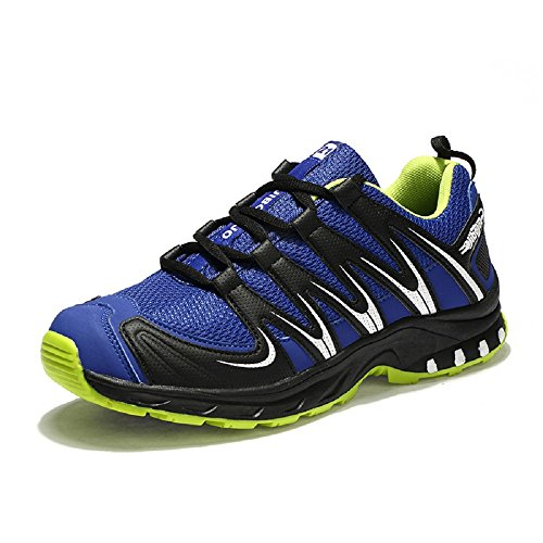 Neoker Chaussures Plates Trekking Et Randonnée Escalade Sports De Plein Air Sneakers Armée Vert Orange Bleu 39-45 Bleu-1