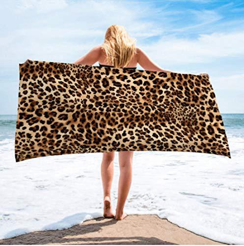 LSSFC Microfibra Leopardo Toalla Playa Gimnasio Deportes